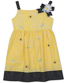 Rare Editions Baby Girls Bee Gingham Seersucker Dress