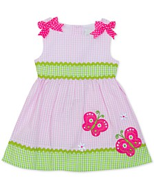 Rare Editions Baby Girls Gingham Butterfly Dress