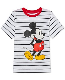 Disney Little Boys Mickey Mouse Stripe T-Shirt