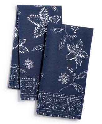 Floral Sun Print Napkins, Set of 2