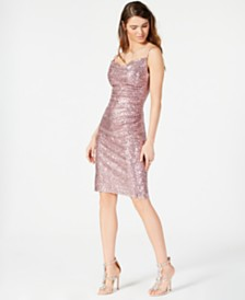 Laundry by Shelli Segal Embellished Ruched Sheath Dress