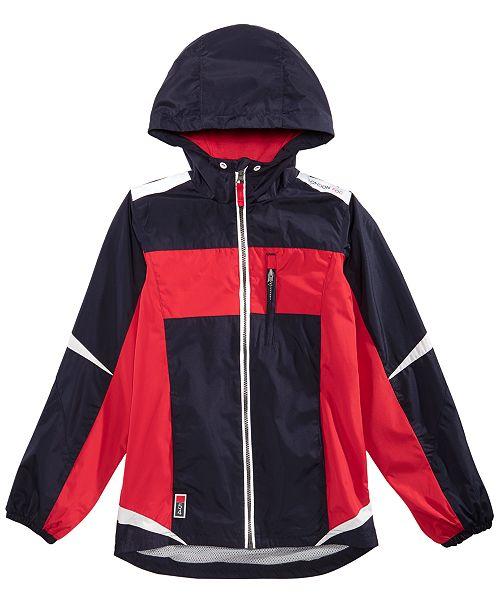e4acd16ee London Fog Big Boys Active Hooded Rain Jacket - Coats   Jackets ...