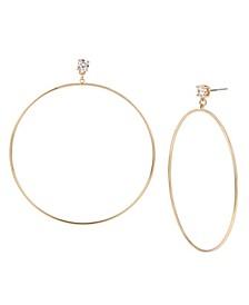 Large Wire Gypsy Large Hoop Earrings