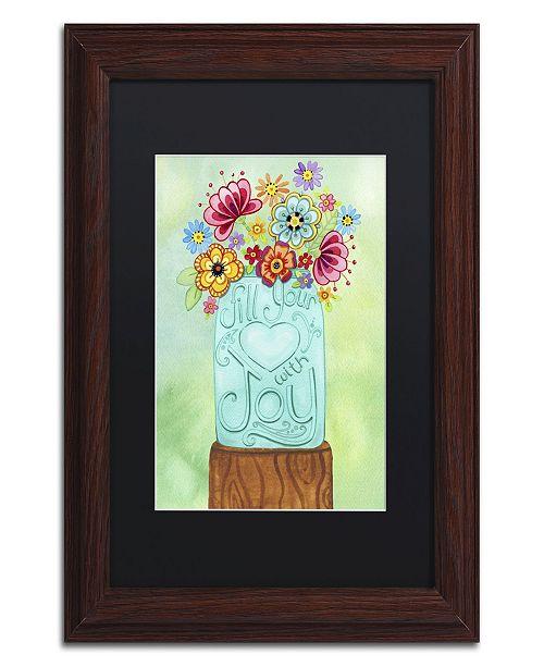 "Trademark Global Jennifer Nilsson Fill Your Heart Jar Matted Framed Art - 16"" x 20"" x 0.5"""