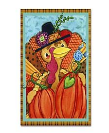 "Jennifer Nilsson Patchwork Turkey Canvas Art - 11"" x 14"" x 0.5"""