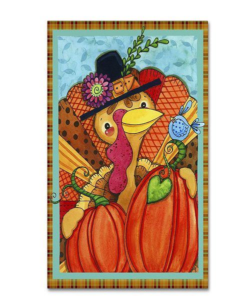 "Trademark Global Jennifer Nilsson Patchwork Turkey Canvas Art - 11"" x 14"" x 0.5"""