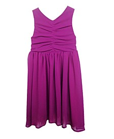 A Cute Dress With Soft Polyester Skirt Covered With A Mesh Overlay