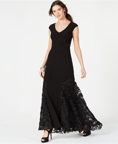 Betsy & Adam Lace Rosette Gown