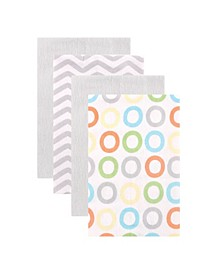 Burp Cloth, 4-Pack, One Size