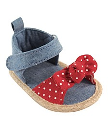 Luvable Friends Bow Sandals, Red Bow, 0-18 Months