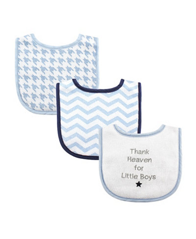 Luvable Friends Drooler Bibs, 3-Pack, One Size