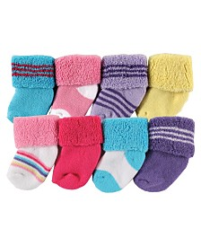 Luvable Friends Socks, 8-Pack, 0-12 Months