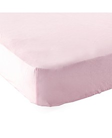 Fitted Portable Crib Sheet, Pink, One Size