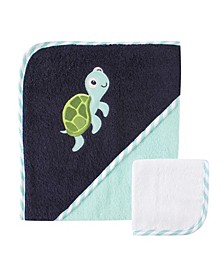 Hooded Towel with Washcloths,One Size