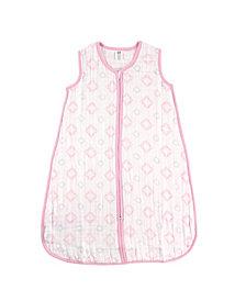 Hudson Baby Muslin Wearable Safe Sleeping Bag Blanket, Pink Damask, 0-24 Months