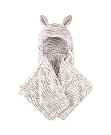 Plush Hooded Blanket, One Size