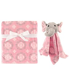 Plush Blanket and Security Blanket, One Size