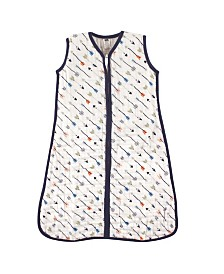 Hudson Baby Muslin Wearable Safe Sleeping Bag Blanket, Boy Arrows, 0-24 Months