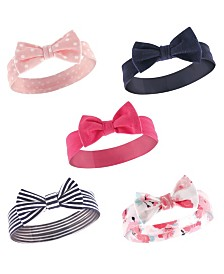 Hudson Baby Headbands, 5-Pack, One Size