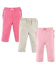 Hudson Baby Ruffle Butt Pants, 3-Pack, 0-24 Months