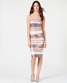Vince Camuto Sequin Midi Shift Dress