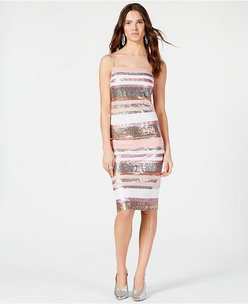 Vince Camuto Sequin Midi Shift Dress Reviews Dresses