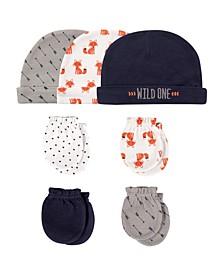 Cap and Scratch Mittens, 7-Piece Set, 0-6 Months