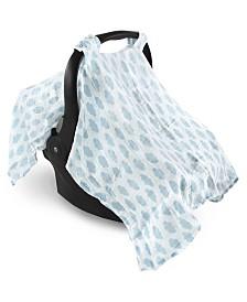 Hudson Baby Muslin Car Seat Canopy, One Size