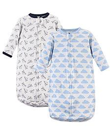 Hudson Baby Long-Sleeve Cotton Sleeping Sack, 2-Pack, 0-12 Months