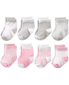 Hudson Baby Basic Crew Socks, 8-Pack, 0-24 Months