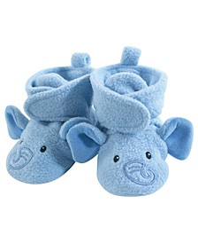 Cozy Fleece Booties with Non Skid Bottom, 0-24 Months