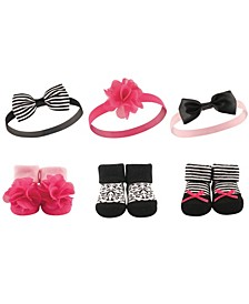 Headbands and Socks Gift Set, 6-Piece, 0-9 Months