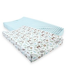 Touched By Nature Organic Cotton Changing Pad Cover, 2-Pack, One Size