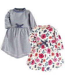 Touched By Nature Organic Cotton Long-Sleeve Dress, 2-Pack, 0 Months-5T