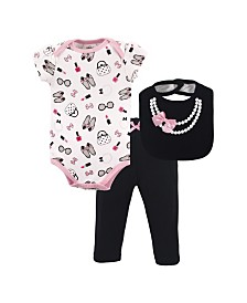Little Treasure Bodysuits, Pants and Bibs Set, 0-9 Months