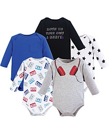 Little Treasure Bodysuits, 5-Pack, 0-24 Months