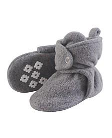 Little Treasure Cozy Fleece Booties with Non Skid Bottom, 0-24 Months