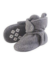 Little Treasure Cozy Fleece Booties with Non Skid Bottom, 0-24 Months