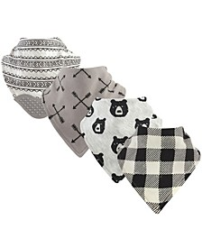 Yoga Sprout Bandana Bibs with Teether, 4-Pack, One Size
