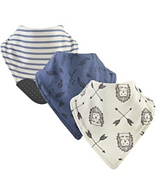 Yoga Sprout Bandana Bibs with Teether, 3-Pack, One Size