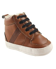 High Top Boat Shoes, Chestnut, 6-12 Months
