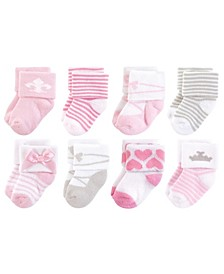Terry Cotton Socks, 8-Pack, 0-12 Months
