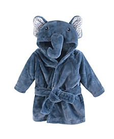 Plush Bathrobe, Chevron Elephant