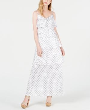 Avec Les Filles Dresses DITSY PAISLEY TIERED MAXI DRESS