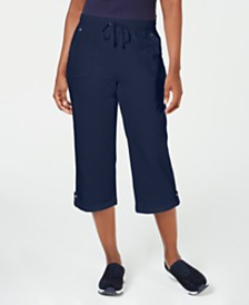 Karen Scott Petite French-Terry Capri Pants, Created for Macy's