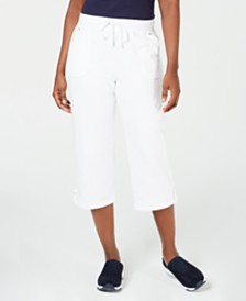 Karen Scott Petite French-Terry Capri Pants, Created for Macy's