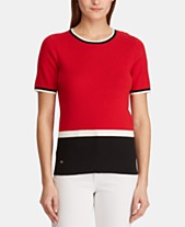 ac0fd06a11 Lauren Ralph Lauren Petite Short-Sleeve Sweater