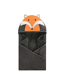 Unisex Baby Animal Face Hooded Towel, Modern Fox 1-Pack, One Size