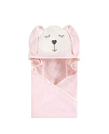 Hudson Baby Unisex Baby Animal Face Hooded Towel, Modern Bunny 1-Pack, One Size
