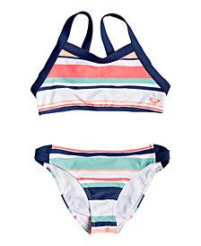 Roxy Girls Happy Spring Crop Top Bikini Set